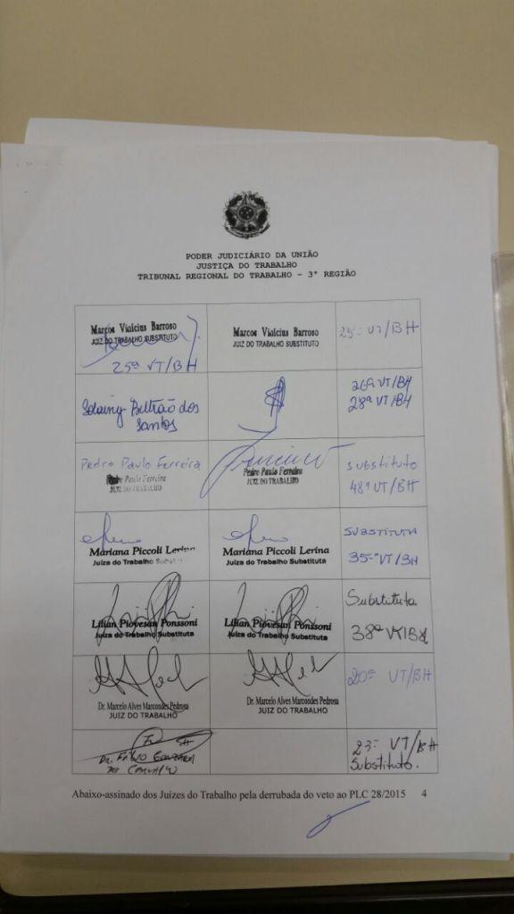 Abaixo-assinado - Justiça do Trabalho - Primeiro Grau -  Página 04