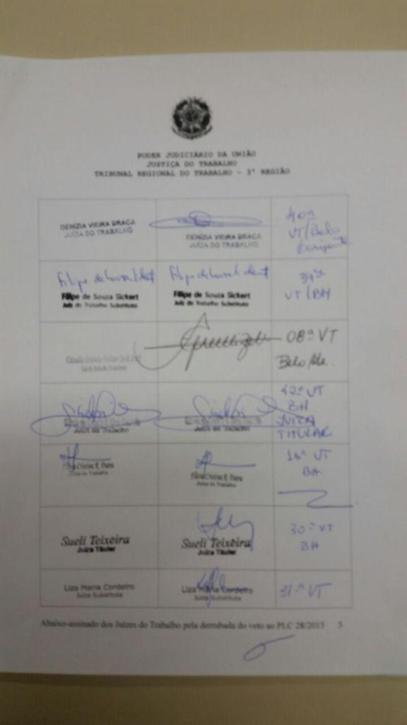 Abaixo-assinado - Justiça do Trabalho - Primeiro Grau -  Página 05