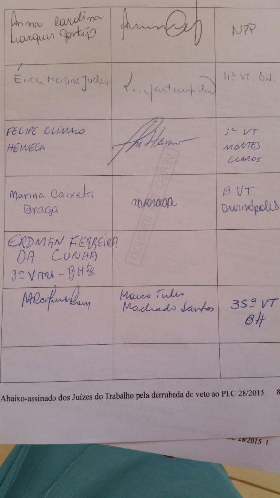 Abaixo-assinado - Justiça do Trabalho - Primeiro Grau -  Página 06