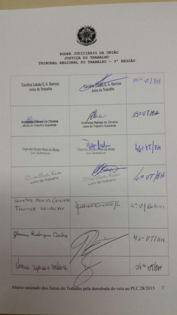 Abaixo-assinado - Justiça do Trabalho - Primeiro Grau -  Página 07