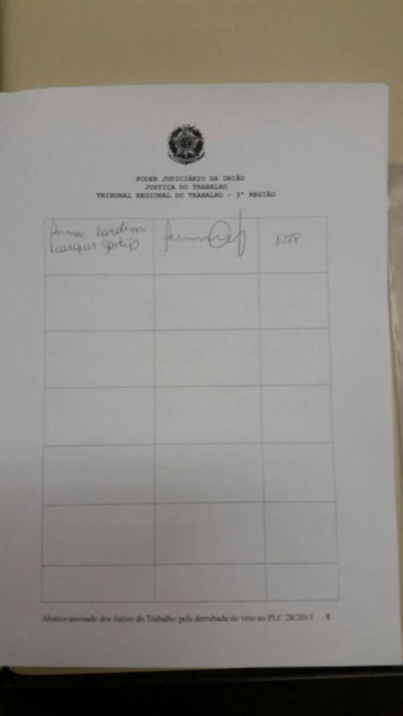 Abaixo-assinado - Justiça do Trabalho - Primeiro Grau -  Página 08
