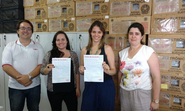 Keila Silva e Cristina Módela Tahan Pereira manifestaram o desejo de se vincularem ao Sindicato
