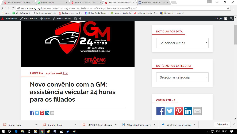 LINK MATÉRIA CONVÊNIO COM GM
