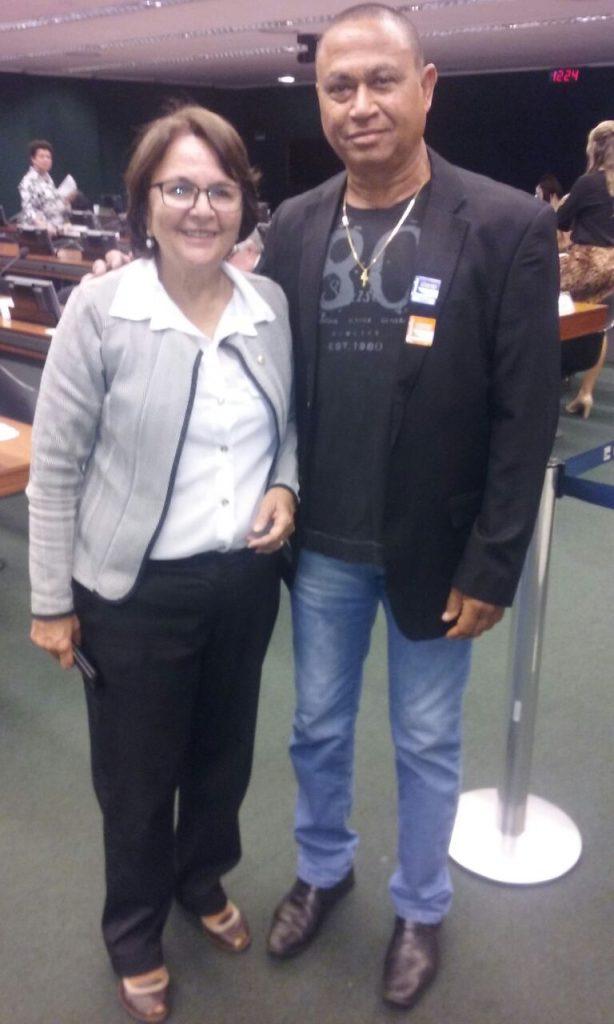 Com a deputada mineira Jô Moraes na sessão da câmara