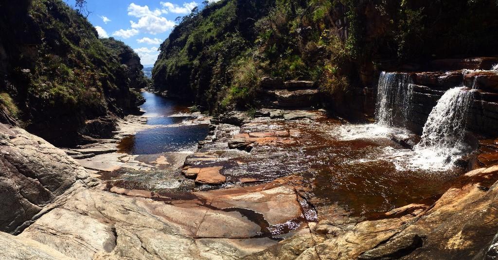 Parte Alta da Cachoeira do Tabuleiro - TABULEIRO. MG