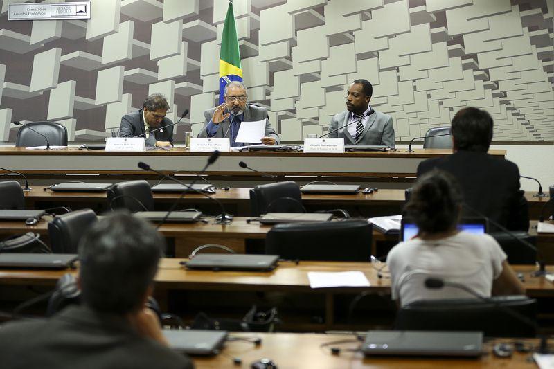 Brasília - A Comissão Parlamentar de Inquérito (CPI) da Previdência faz  balanço das atividades iniciadas em 26 de abril para investigar as contas e dívidas da Previdência Social.  (Marcelo Camargo/Agência Brasil)