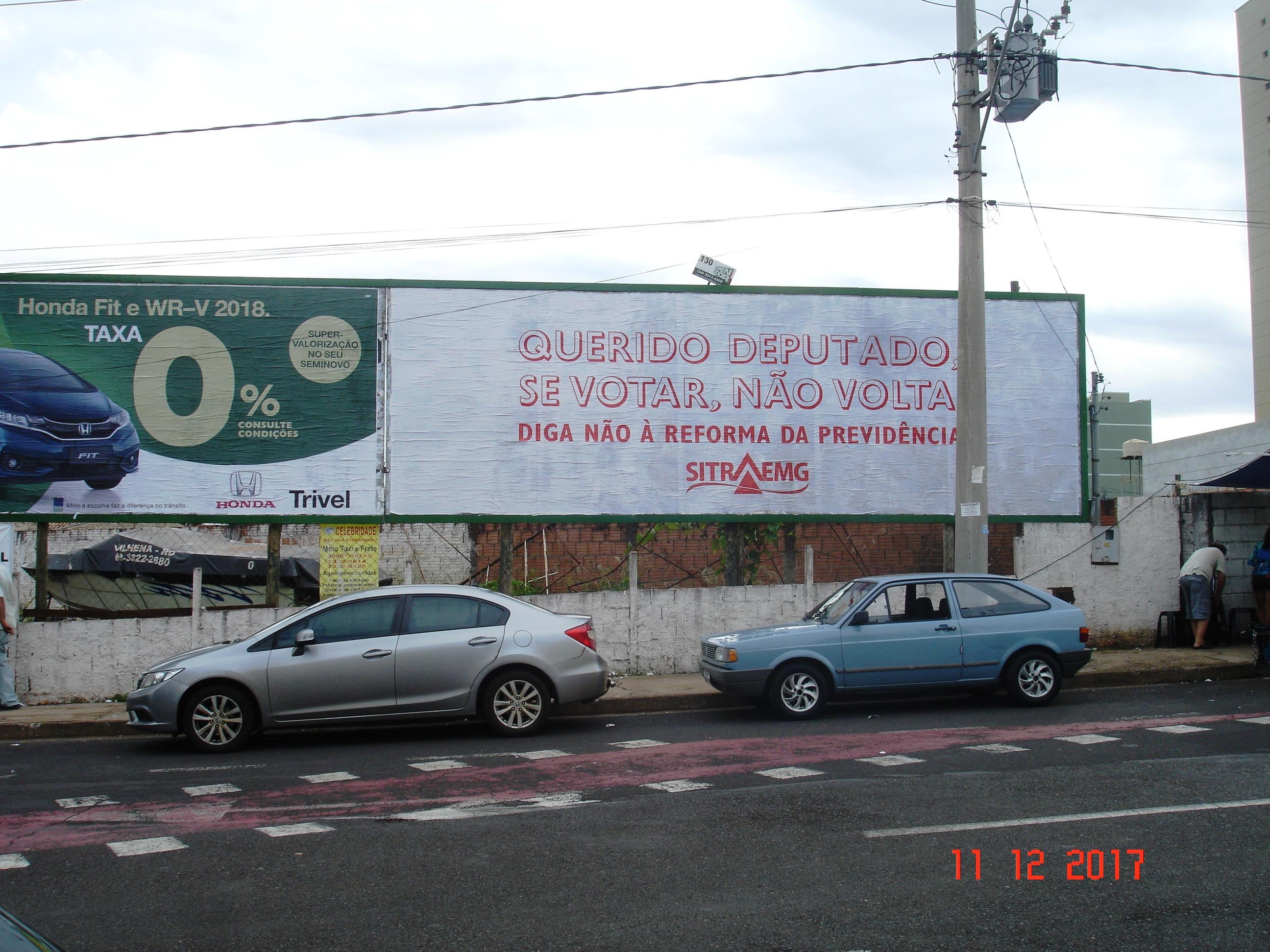 AV. Maranhão, em frente a OAB de Uberaba
