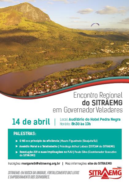 Encontro Regional do SITRAEMG em Governador Valadares