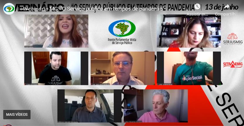 SITRAEMG participa do 2º webinário da Frente Parlamentar Mista do SP